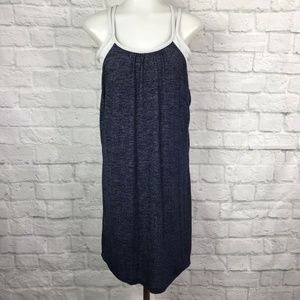 Athleta Medium Hidden Agenda Dress Navy Blue